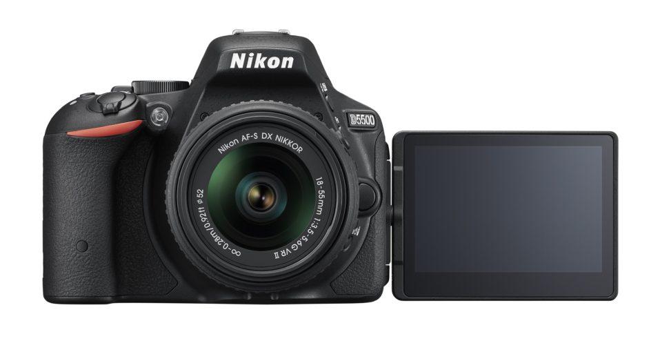 Nuova Nikon d5500 - vista frontale